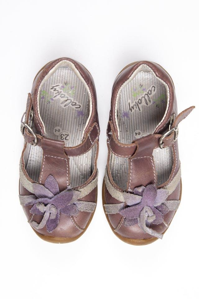 Zapatos con correa marrones - Colloky foto 2