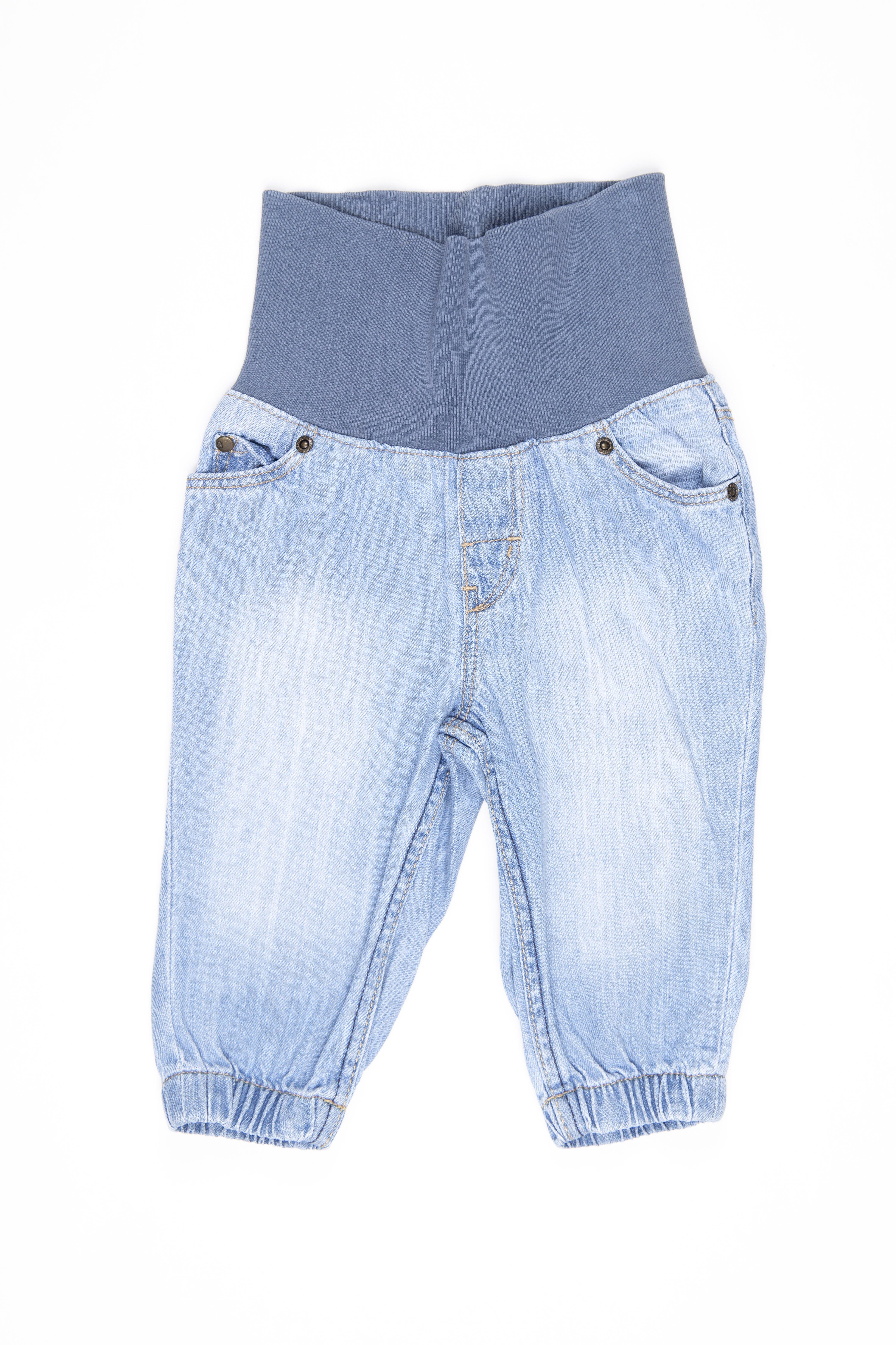 Jean con cintura rib ancha y elástico en tobillos 100% algodón - H & M