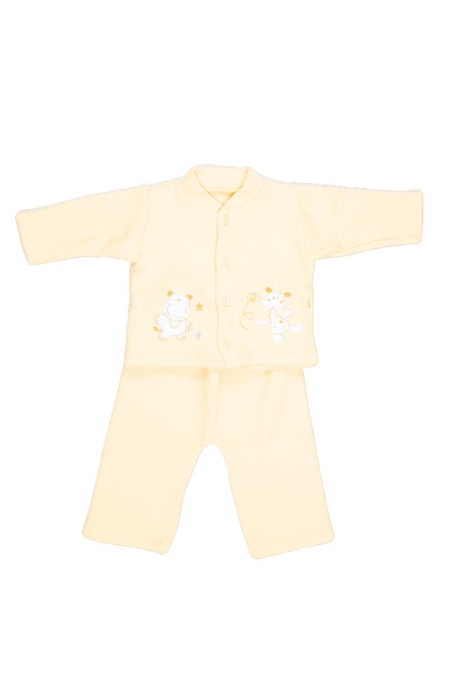 Saquito y pantalón algodón grueso amarillo foto 1