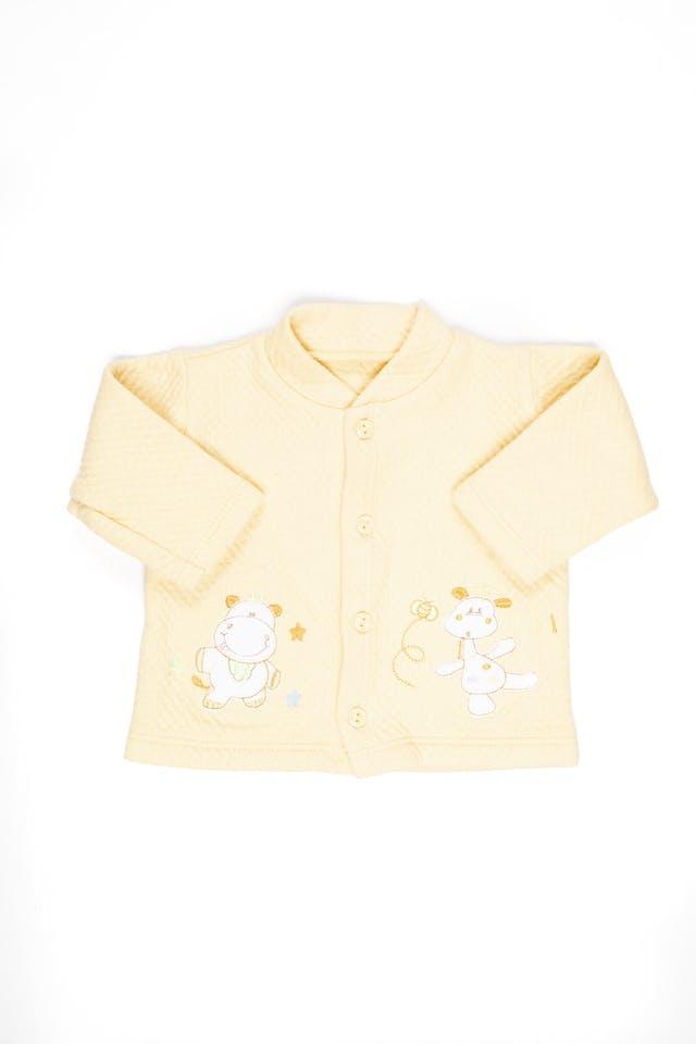 Saquito y pantalón algodón grueso amarillo foto 2