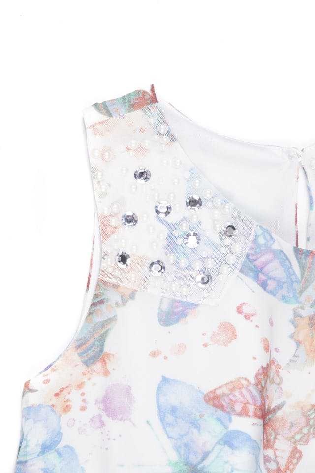Vestido de gasa con mariposas - Btween foto 2