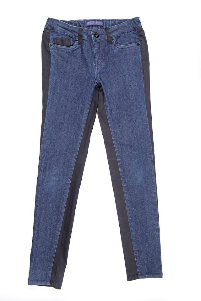 Pantalon jean azul por delante y negro por detrás. Cintura regulable. Stretch - Levis foto 1