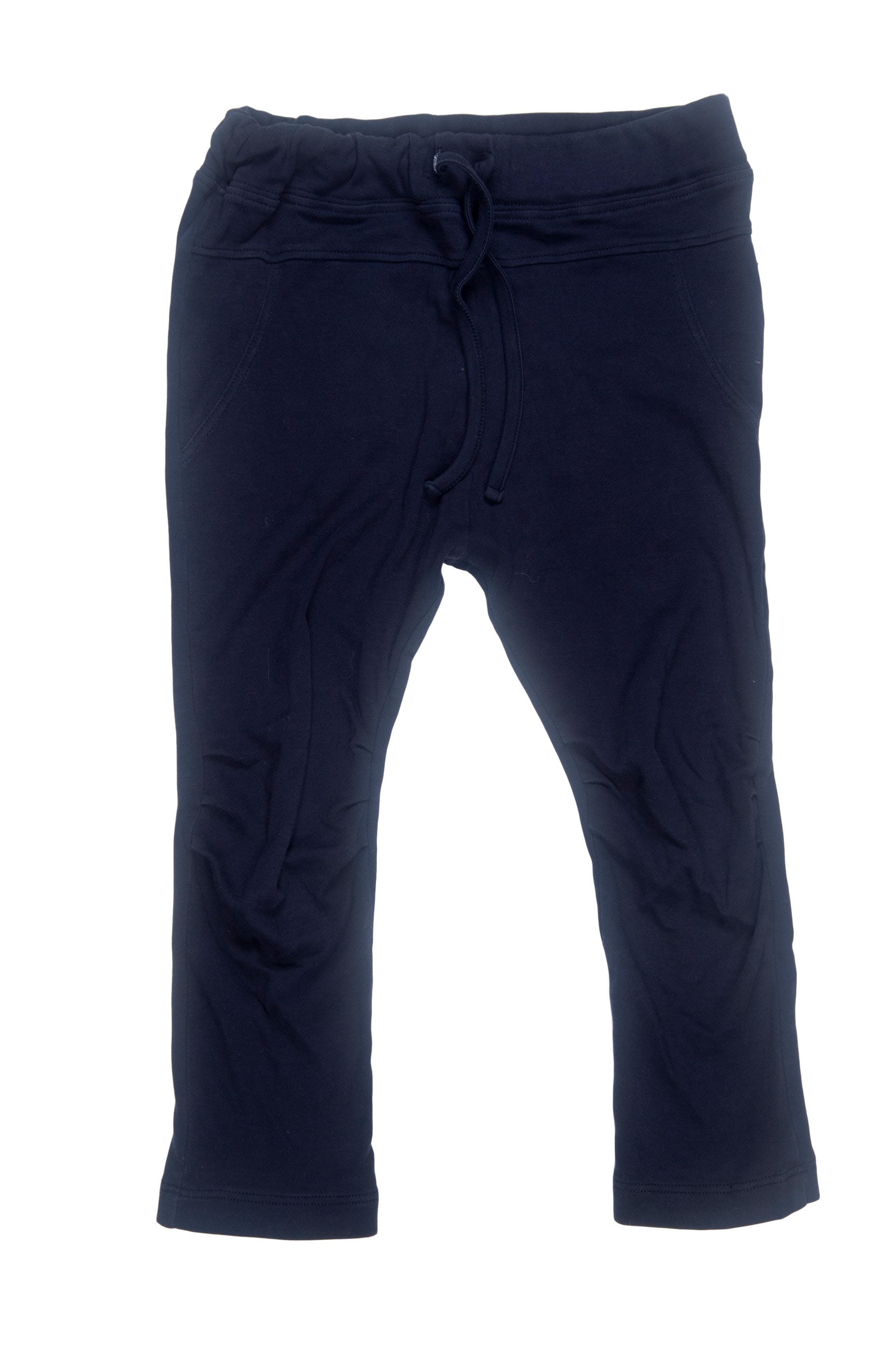 Pantalón delgado azul con pliegue en rodilla y elástico cintura 100% algodón - Baby Pima