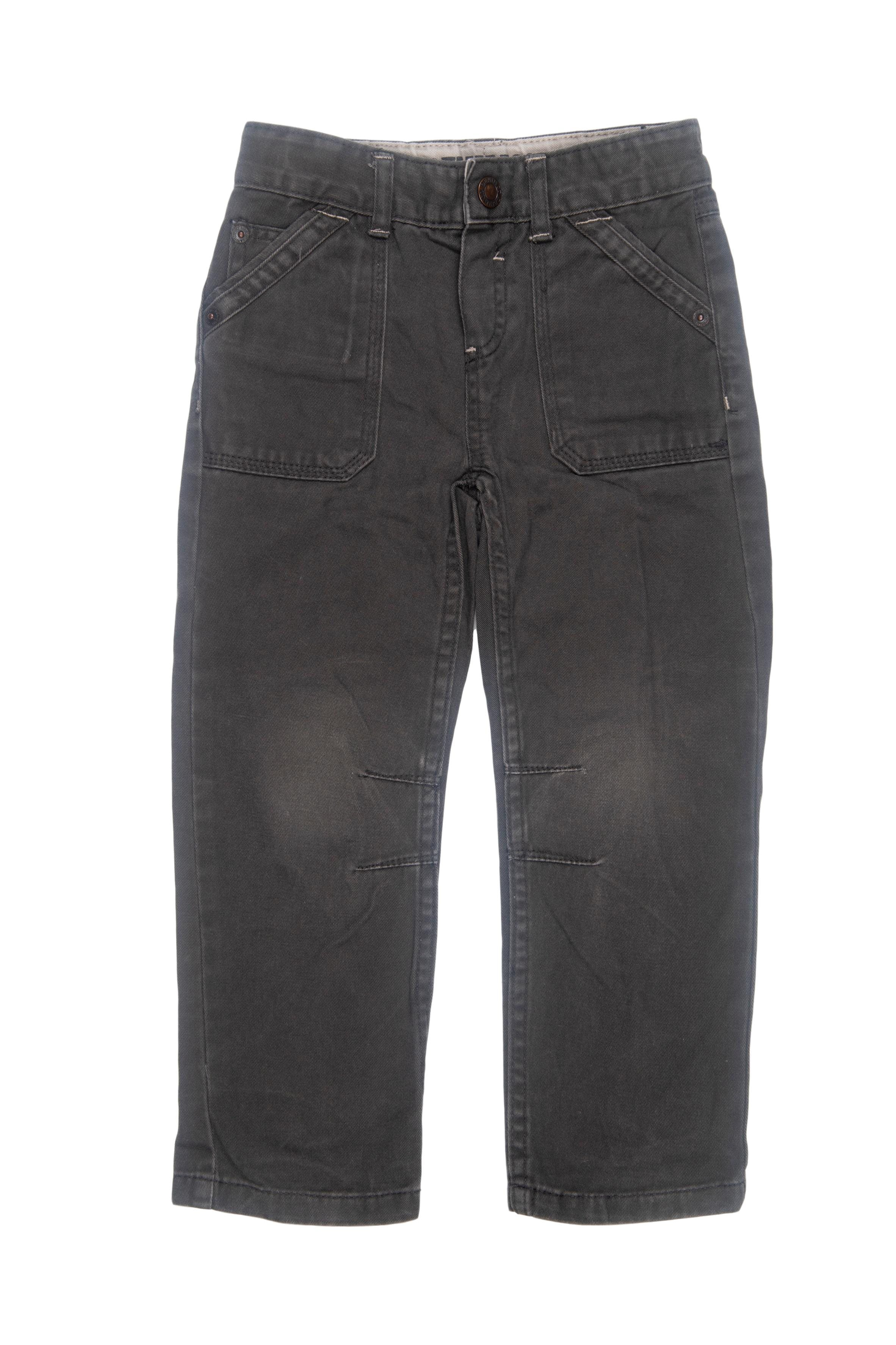 Jean gris 100% algodón, cintura regulable - Denim Co