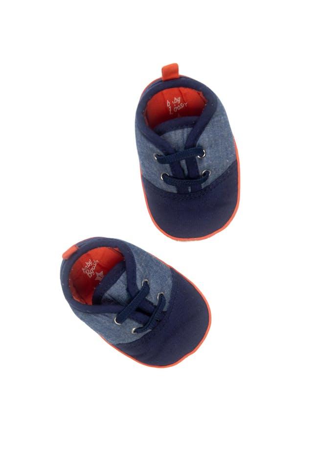 Zapatillas azul y naranja con elástico - OshKosh foto 1