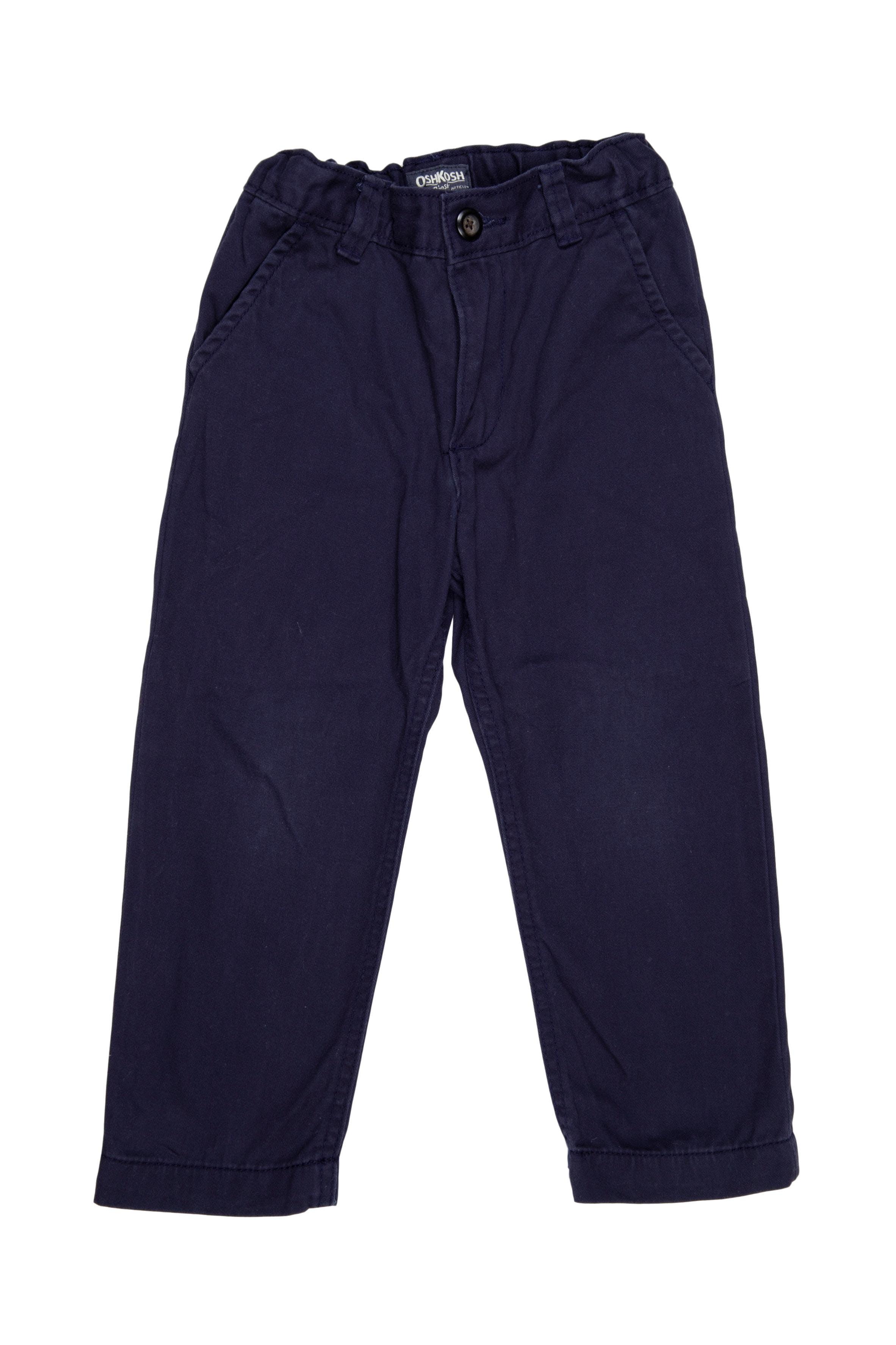 pantalon de drill 100% algodón azul marino, cintura regulable