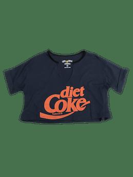Polo crop azul con print Diet Coke foto 1