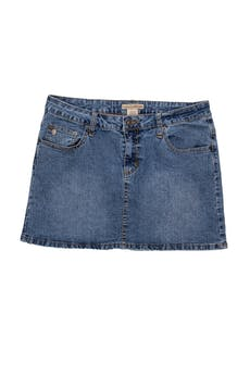 Falda denim 65% ramie 20% algodón ligeramente stretch, bolsillos laterales y posteriores. Pretina 82cm Largo 39cm foto 1