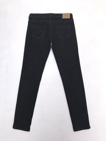 Pantalón jean negro Zara corte slim foto 2