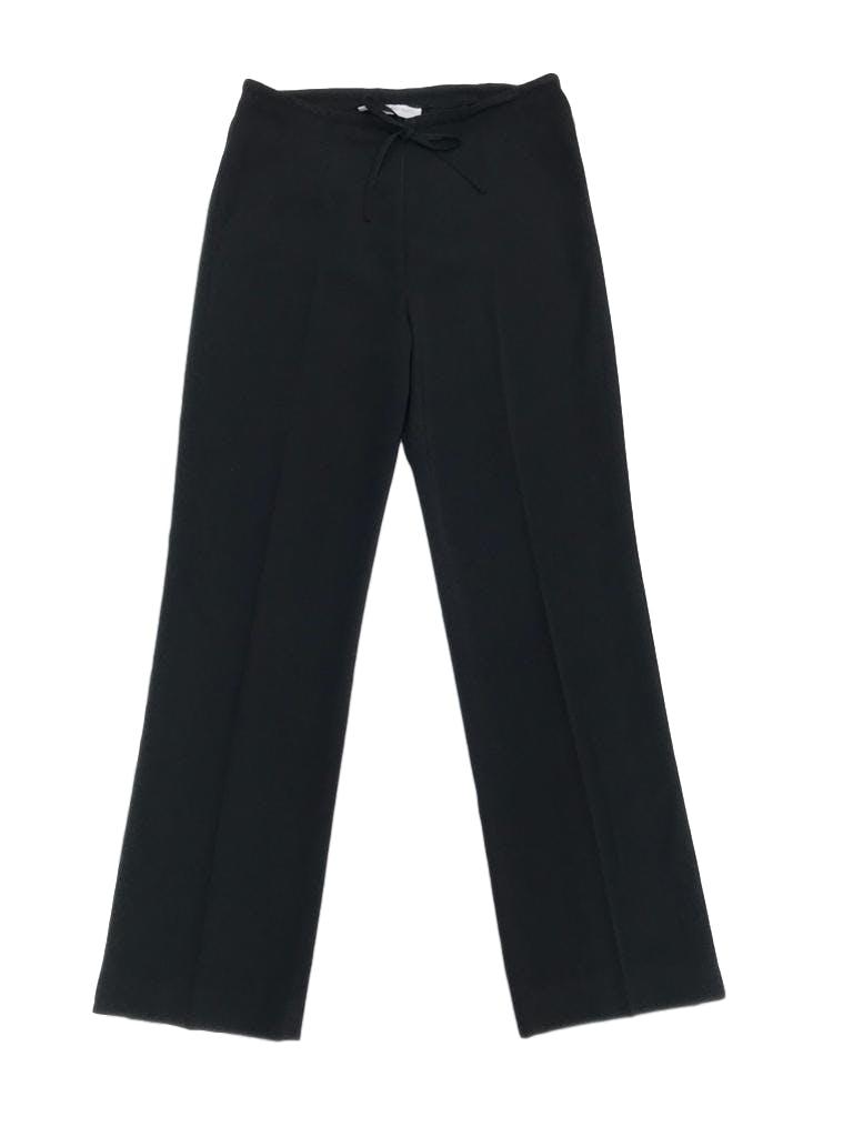 Pantalón Mango a la cintura, tela tipo sastre delgada con linda caída, pierna recta, cierre delantero y cinto regulable. Cintura 80cm. Precio original S/ 200