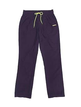 Pantalón buzo Reebok  morado con logo amarillo neón, forro malla. Precio original S/ 170 foto 1