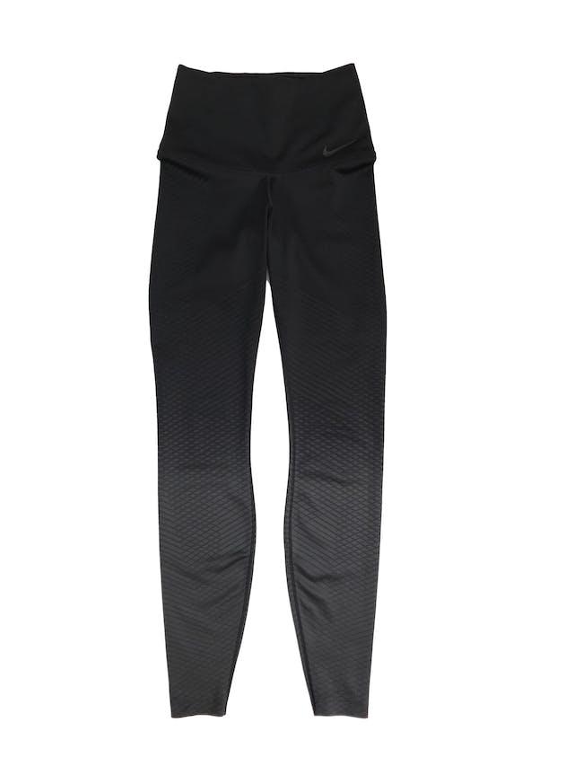 Legging deportiva Nike negra en degradé a gris con texturas al tono foto 1