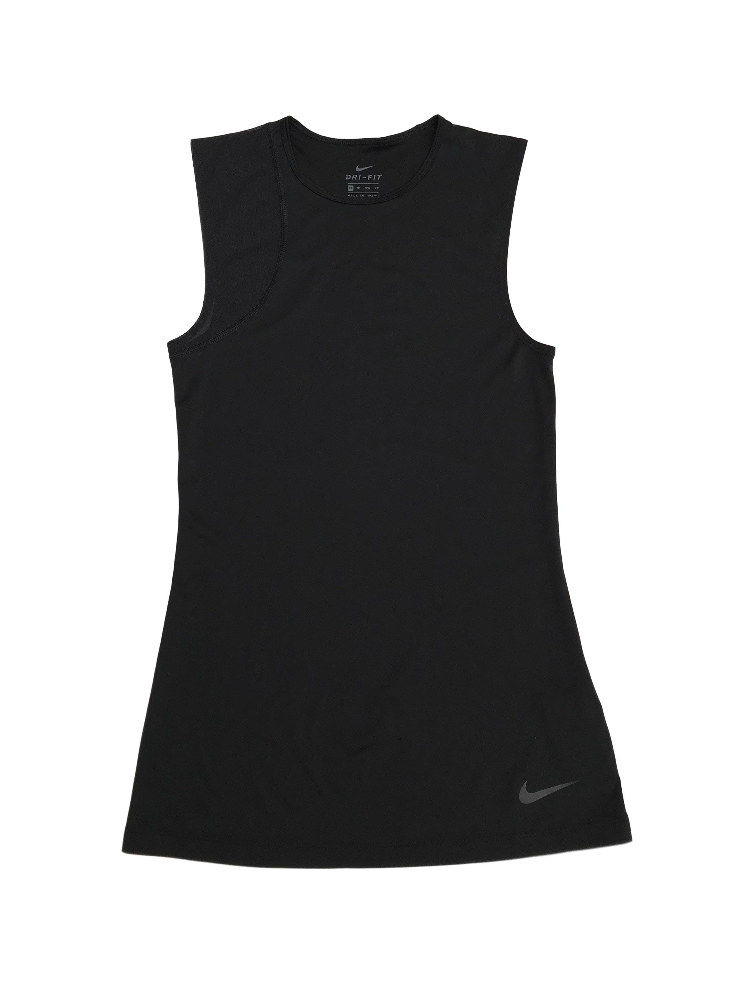 Bvd deportivo Nike negro con un hombro tipo tul