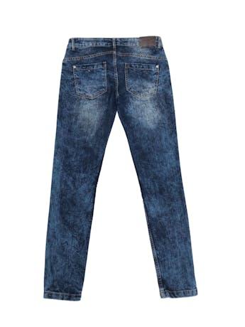 Jean azul pitillo focalizado, five pockets. Pretina 74cm foto 2