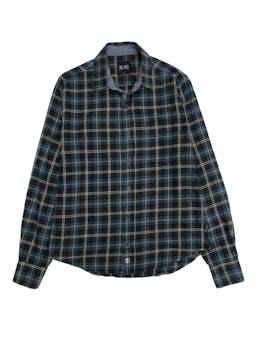Blusa 15.50 a cuadros verdes 100% algodón tipo franela foto 1
