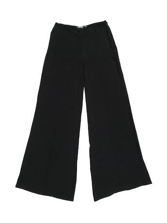 Pantalón Basement palazzo de tela fluida fresca, con cierre lateral. Cintura 76cm foto 1