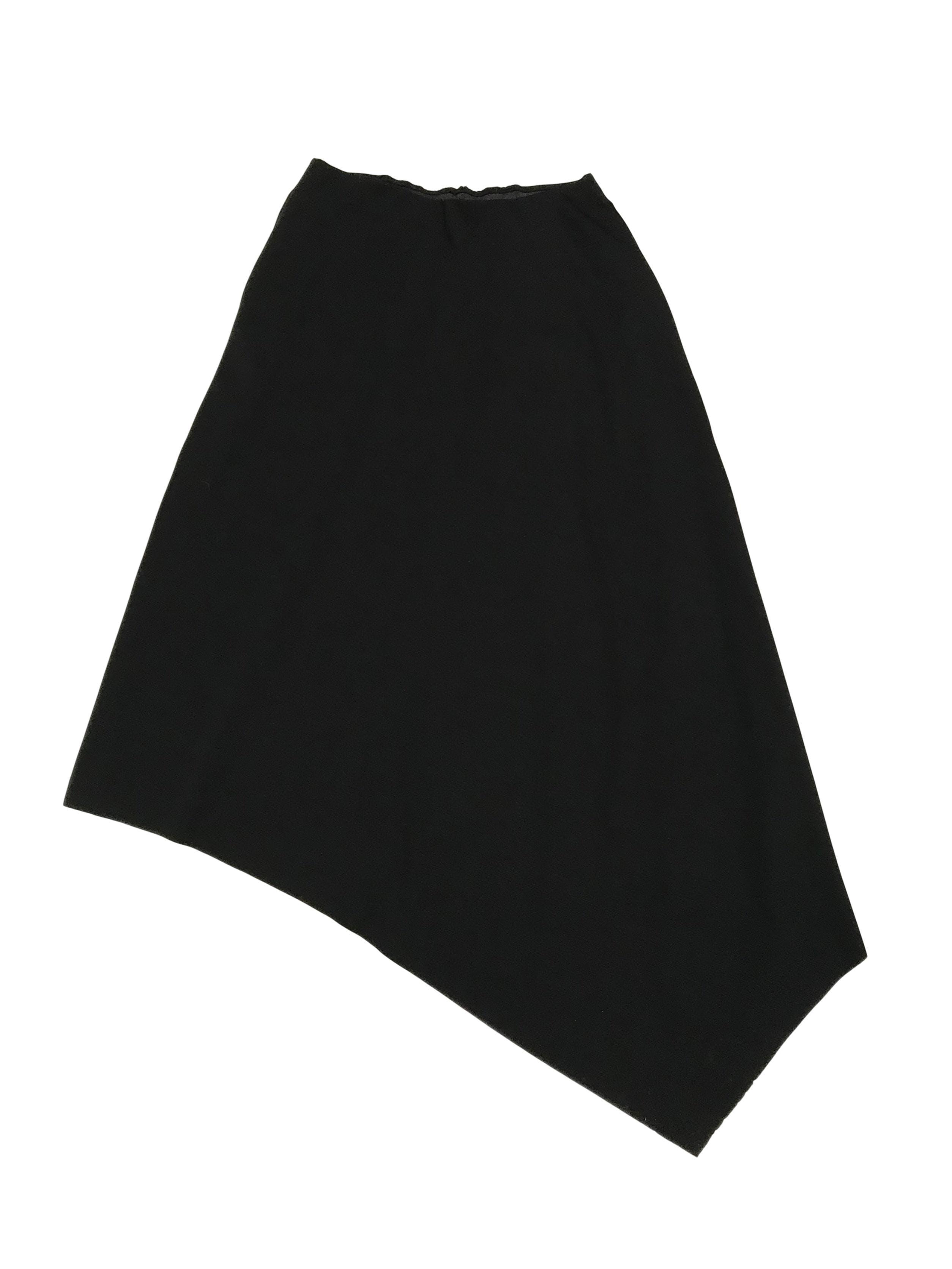 Falda COS larga asimétrica con elástico en la cintura (72cm sin estirar)