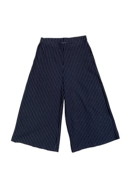 Culotte Zara azul con líneas, elástico en la cintura y pierna palazzo. Cintura 72cm (sin estirar) Largo 80cm foto 1