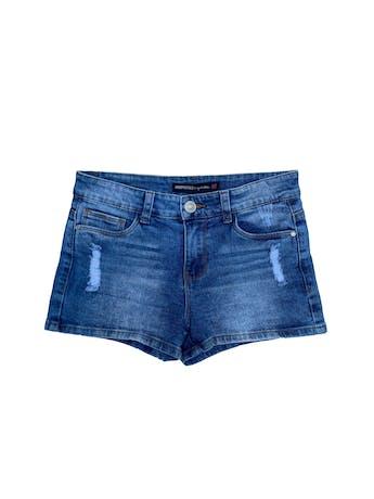 Short jean Aeropostale 98% algodón, focalizado, con bolsillos delanteros y traseros. Pretina 74cm  foto 1