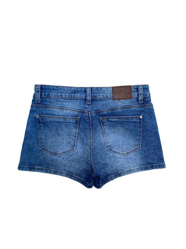 Short jean Aeropostale 98% algodón, focalizado, con bolsillos delanteros y traseros. Pretina 74cm  foto 2