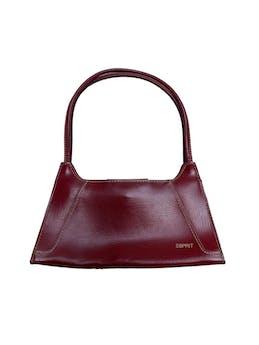 Baguette bag Esprit de polipiel guinda y costuras crema, forro interior y cierra con broche imantado. Medidas 25x14x5cm foto 1