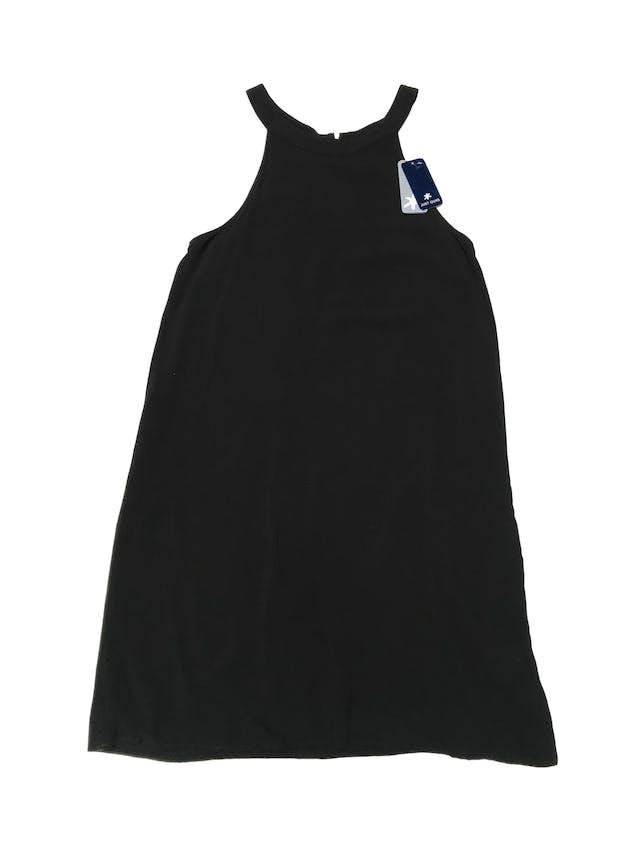 Vestido Splendid negro 100% rayón, corte en A, doble capa de tela y cierre en la espalda. Busto 92cm Largo 92cm. Nuevo con etiqueta. Precio original S/ 420 foto 1