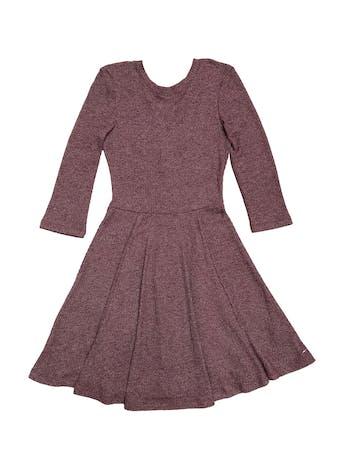 Vestido Kidsmadehere de punto jaspeado, manga 3/4, escote en la espalda con pasador y falda en campana. Largo 90cm foto 1