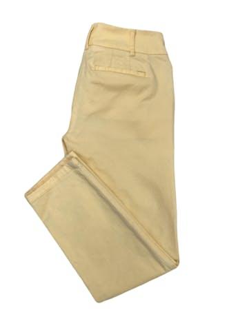 Pantalón Loft 98% algodón amarillo pastel, tipo medio. Pretina 76cm Cadera 90cm  foto 2