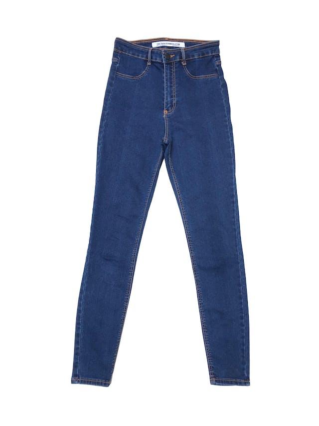 Jegging Zara a la cintura, jean stretch con cierre, botón delantero y bolsillos atrás. Cintura 63cm sin estirar foto 1