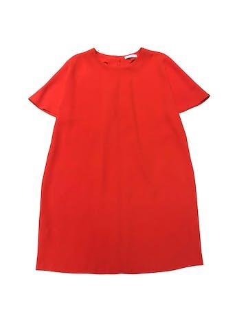 Vestido Mango corte recto con botón posterior en el cuello. Largo 90cm foto 1