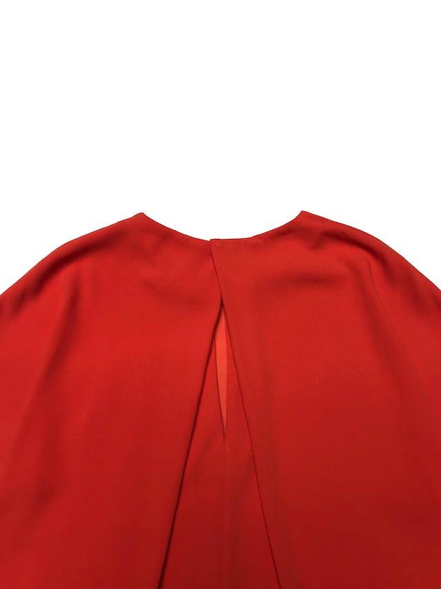 Vestido Mango corte recto con botón posterior en el cuello. Largo 90cm foto 2
