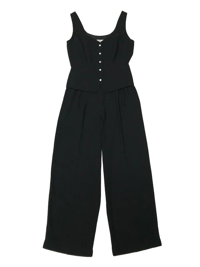 Enterizo vintage Ann Tjan for Kennar superior tipo chaleco y pantalón recto con pinzas. Busto 98cm Cintura 80cm foto 1