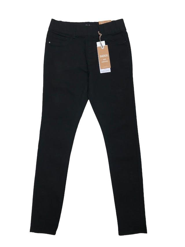 Jegging Index negra ligeramente stretch con elástico en la cintura. Pretina 72cm (sin estirar). Nueva con etiqueta, precio origina S/ 69.95 foto 1