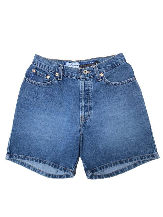 Short jean a la cintura 100% algodón con bolsillos laterales y traseros. Cintura 68cm Largo 39cm foto 1