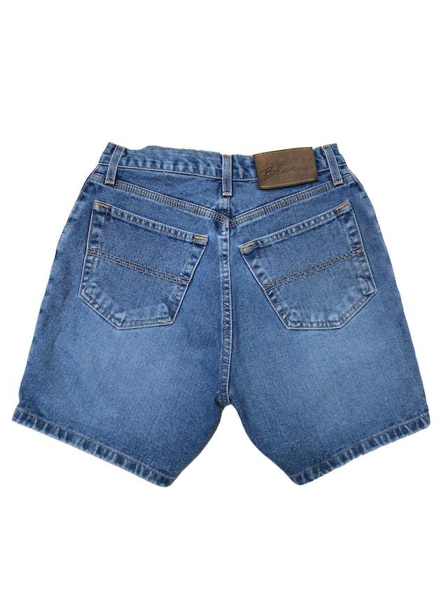 Short jean a la cintura 100% algodón con bolsillos laterales y traseros. Cintura 68cm Largo 39cm foto 2
