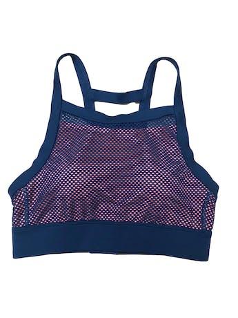 Top deportivo Otium azul enmallado con forro rosa. Nuevo con etiqueta. foto 1