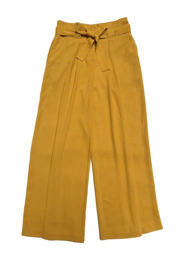 Pantalón palazzo Marquis con pliegues y cinto para amarrar. Cintura 85cm foto 1