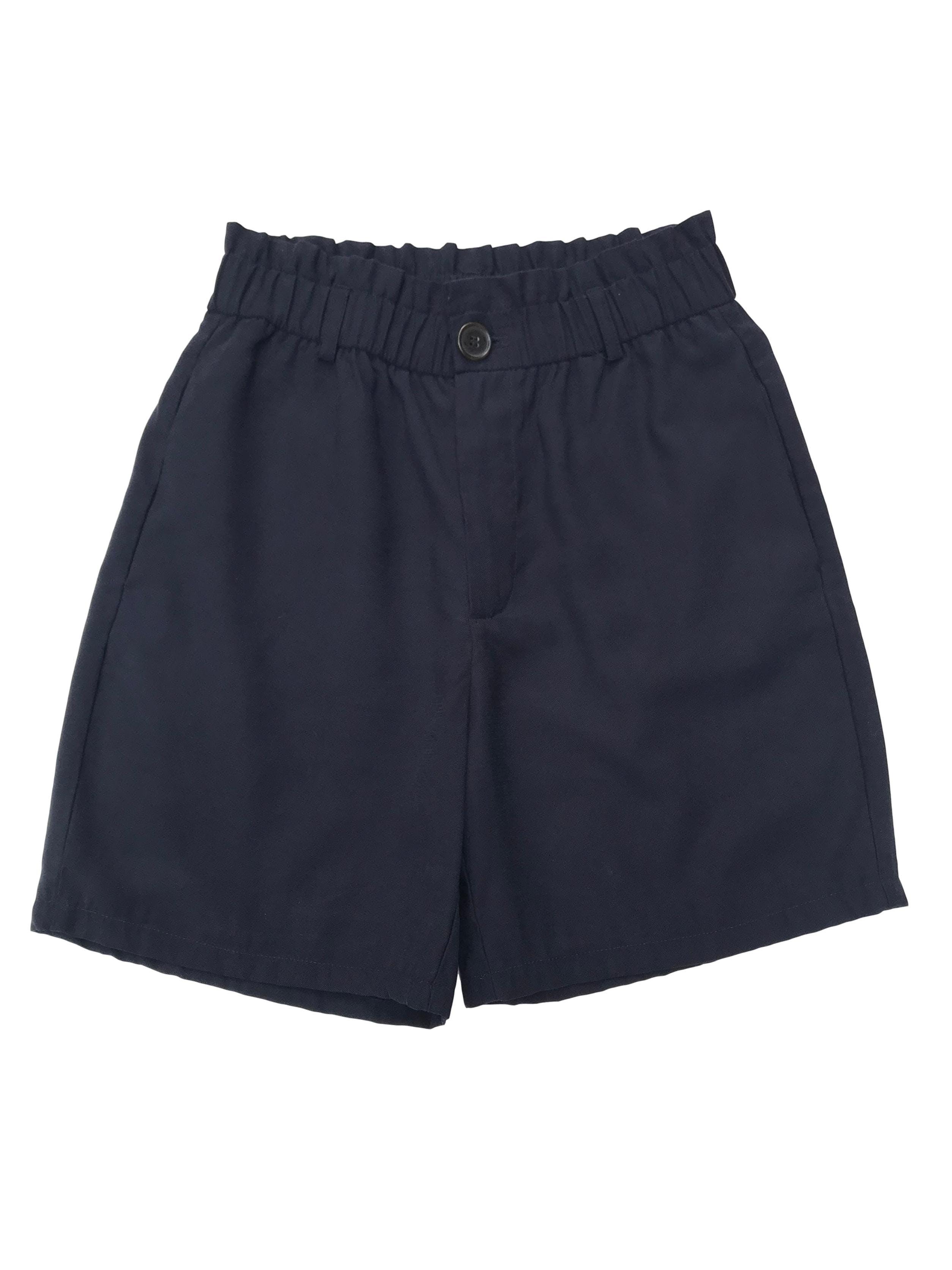 Short Zara azul paper bag con bolsillos laterales. Cintura 70cm Largo 43cm. Precio original S/ 129