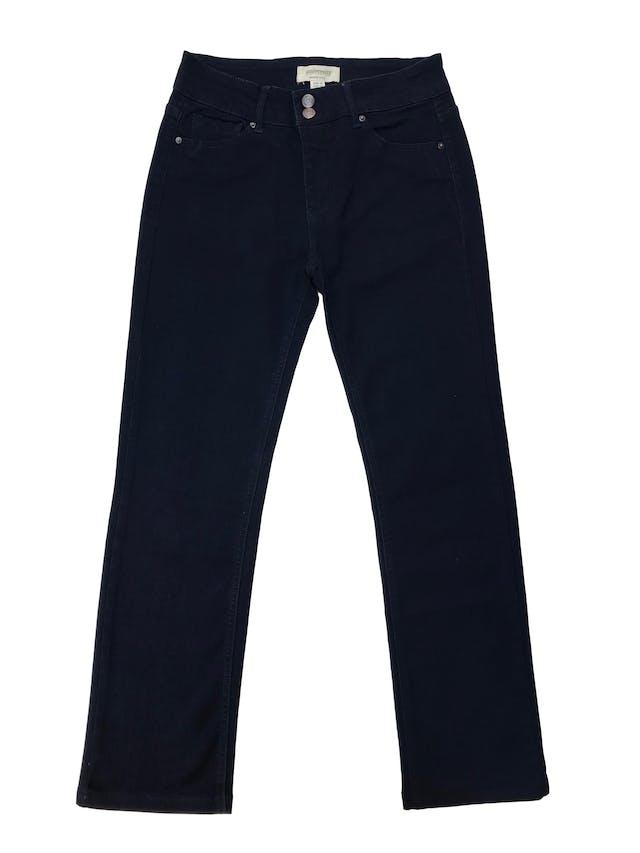 Pantalón jean University club azul oscuro ligeramente stretch, pierta recta. Nuevo. Cintura 76cm foto 1