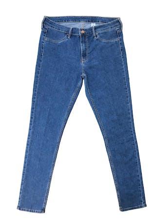 Jegging H&M azul con bolsillos traseros, regular waist. Pretina 86cm  foto 1
