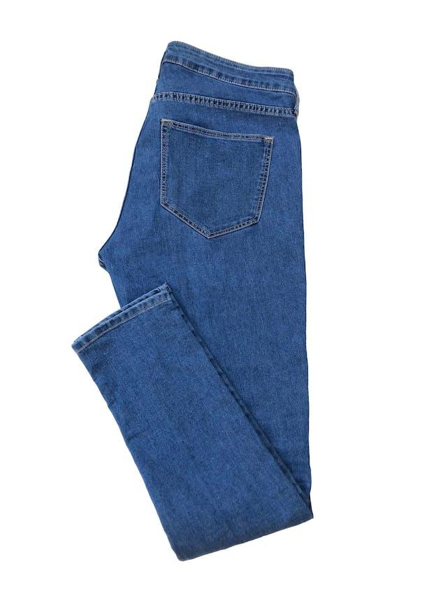 Jegging H&M azul con bolsillos traseros, regular waist. Pretina 86cm  foto 2
