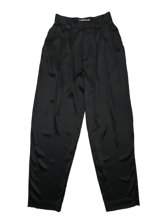 Pantalón slouchy Linda Allard for Ellen Tracy 100% seda negra. Cintura  66cm Largo 110cm (para adaptar a tu alruta) foto 1