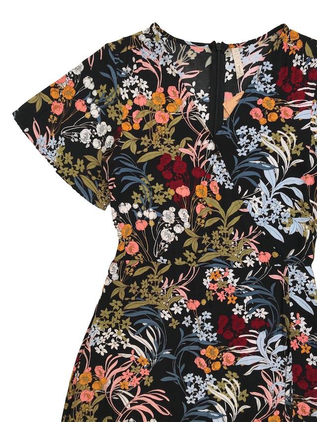Vestido largo Sybilla efecto cruzado con cierre en la espalda, tela plana fresca. Busto 88cm Cintura 70cm Largo 130cm foto 2