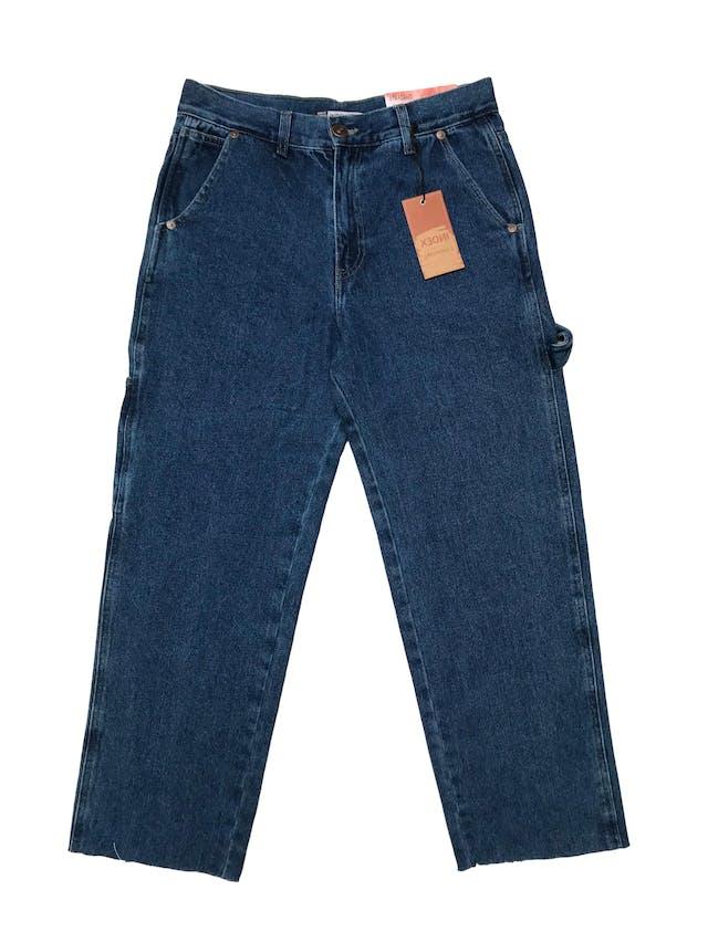 Pantalón jean grueso Index corte recto modelo carpenter, 100% algodón, a la cintura y basta desflecada. Cintura 78cm Cadera 98cm Largo 92cm. Nuevo con etiqueta, precio original S/ 129  foto 1