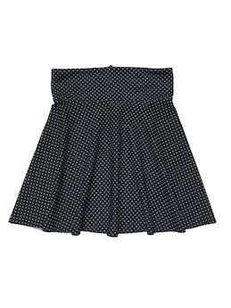 Falda campana negra con dots blancos, pretina anche y cierre posterior, tela con textura tipo neopreno. Pretina 70cm Largo 48cm foto 1