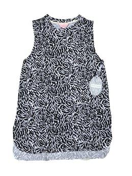 Polo Zanzibar de animal print blanco y negro,  tela tipo algodón con spandex. Largo 63cm. Nuevo con etiqueta foto 1