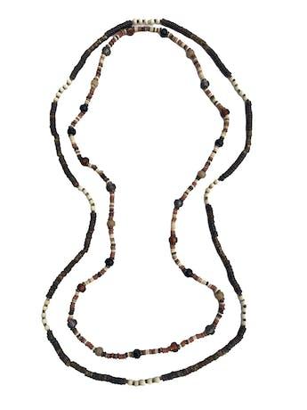 Set de dos collares de piedras, madera, murano y metal. Largo 105cm - 95cm foto 1