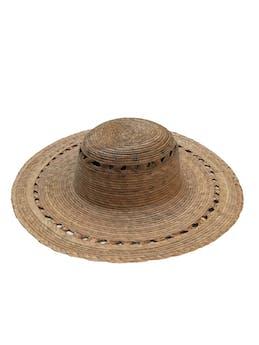 Sombrero de paja de ala ancha. Circunferencia 40cm Cabeza 19cm foto 1