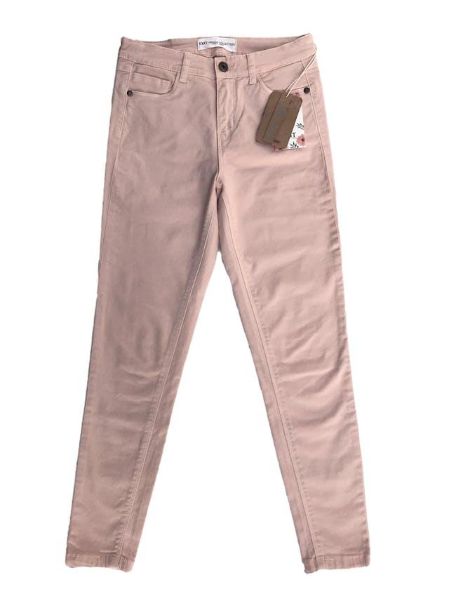 Skinny jean Exit en tono melón, a la cintura, five pocket, 98% algodón con spandex. Cintura 70cm sin estirar Largo 90cm. Nuevo con etiqueta foto 1