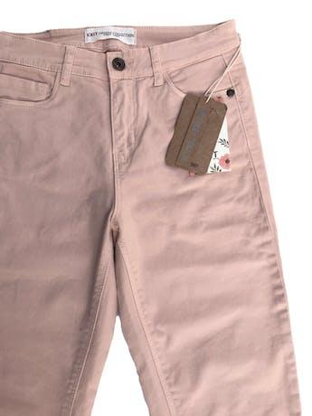 Skinny jean Exit en tono melón, a la cintura, five pocket, 98% algodón con spandex. Cintura 70cm sin estirar Largo 90cm. Nuevo con etiqueta foto 2